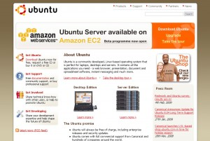Ubuntu.com in FireFox